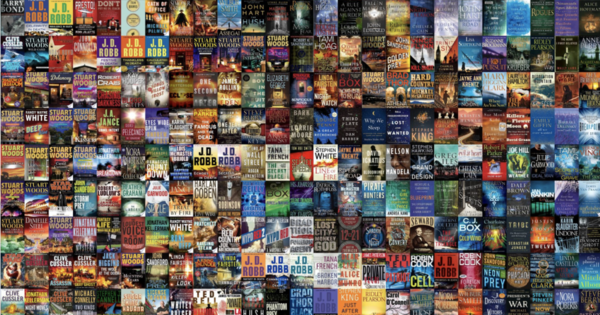 5,000 Top-Selling Book Covers, Arranged by Visual Similarity