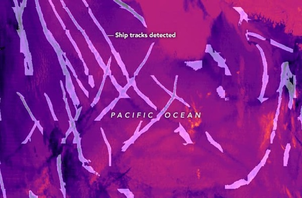 Finding hidden ship tracks