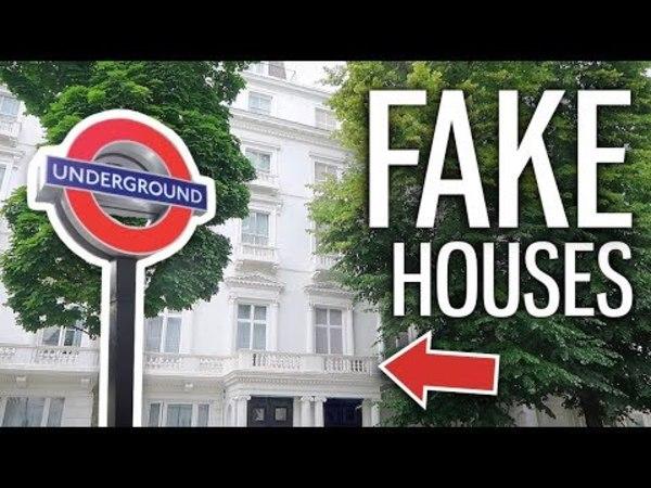 In Londons feinster Wohngegend stehen zwei Häuser, die nur aus Fassaden bestehen
