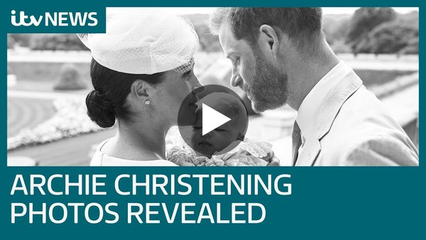 Prince Harry and Meghan reveal Archie christening photos | ITV News