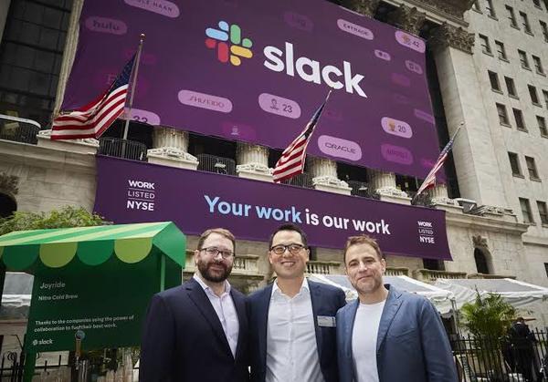 25 milyar doların üzerinden bir değerlemeyle halka açılan Slack'in hisseleri ilk günde %40'dan fazla değer kazandı