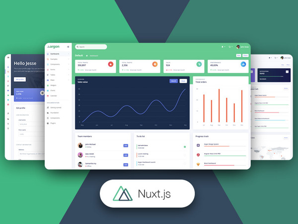 Nuxt Argon Dashboard PRO: Premium Nuxt.js and Bootstrap 4 Admin Template
