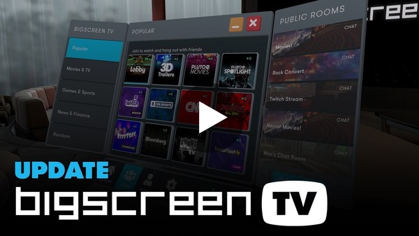 Bigscreen TV: watch movies, sports, anime, and 50+ channels on Oculus Quest, Valve Index, and more