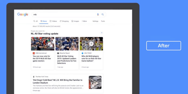 Google rolling out redesigned News tab for desktop Search