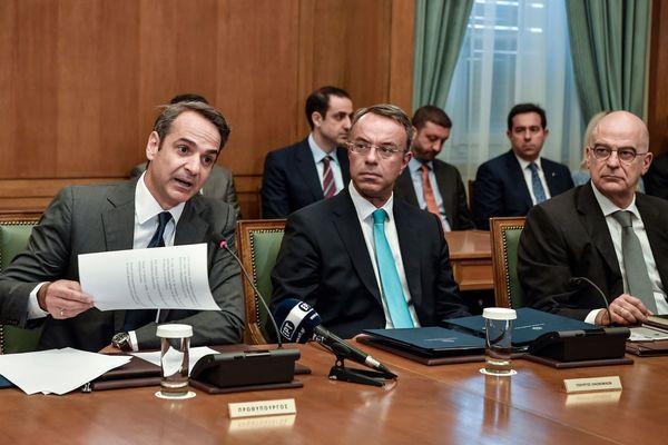 De eerste vergadering van het nieuwe Griekse kabinet
