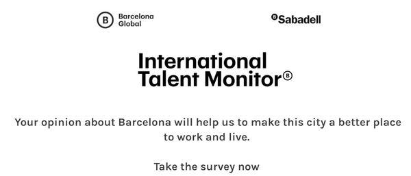 Click on the image to take the survey and make Barcelona a better place to work and live!