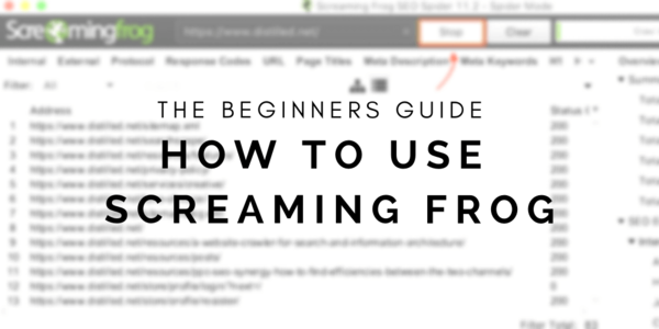 How to Use Screaming Frog: A Beginner's Guide | Distilled