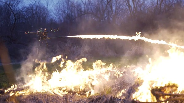 This Company Is Selling Drone-Mounted Flamethrowers to the General Public D