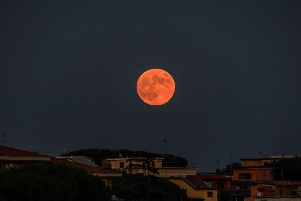 La Lune vue depuis Rome, le 16 juillet 2019 - Andreas SOLARO / AFP