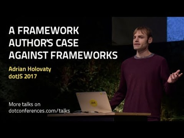 A framework author's case against frameworks, by Adrian Holovaty