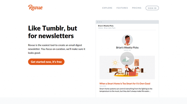 Revue - The Best Way to Send Email Digest Newsletters