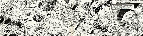 Jim Starlin - JLA Original Comic Art