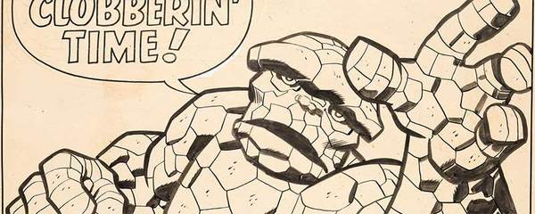 Jack Kirby - The Thing pinup Original Art