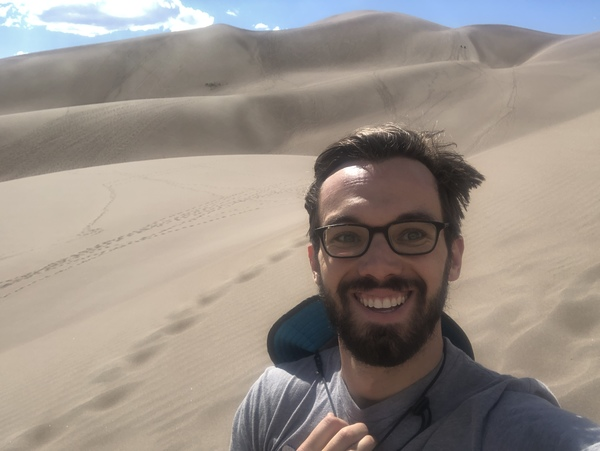 The top of a dune at Great Sand Dunes National Park