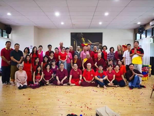 Drupla Sherab Dorje in Asia