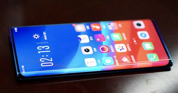 Oppo shows off 'waterfall screen' phone with ultra-curved edges