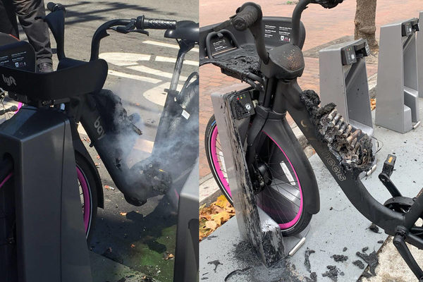 Lyft halts e-bike program after bicycle batteries catch fire in SF