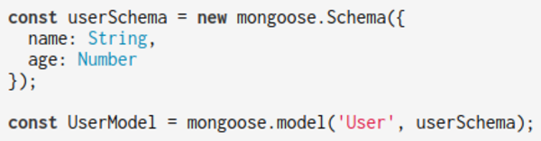 Mongoose will use Object.defineProperty() to watch for updates on 'name' and 'age'
