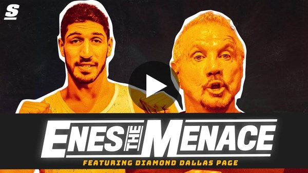 Enes Kanter, Diamond Dallas Page star in 'Enes the Menace'