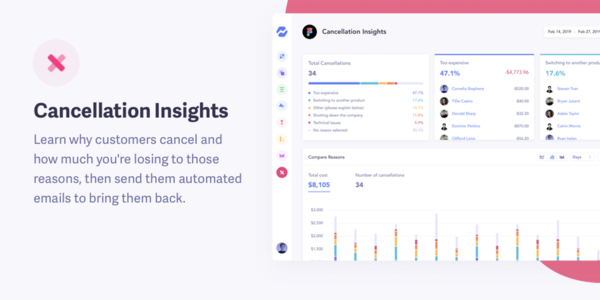 Cancellation Insights by Baremetrics: Cancellation Feedback