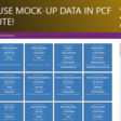 How to use Mock-Up Data in PCF CLI