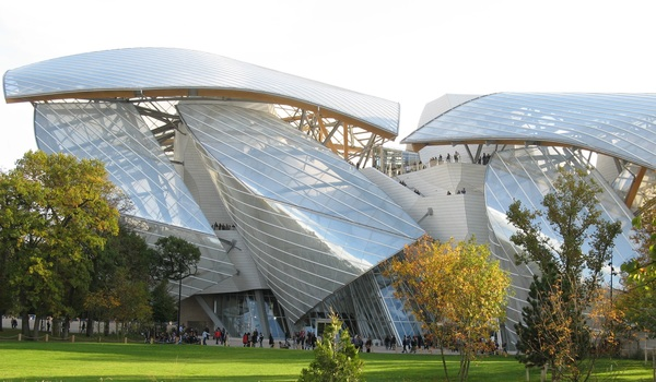 The Louis Vuitton Foundation designed by the famous architect Frank Gehry