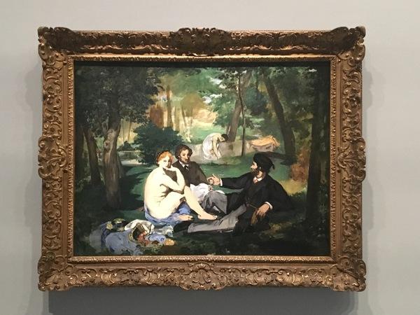 Le Déjeuner sur l'Herbe, by Manet, in 1863