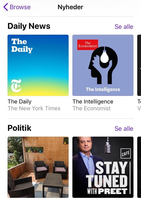 """Den nye kategori """"Nyheder"""" indeholder bl.a. de to underkategorier """"Daily News"""" og """"Politik"""". Oversættelserne er endnu ikke helt på plads, lader det til..."""
