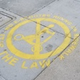 These Sidewalk Stencils Aim To Curb LA Scooter Scofflaws' Bad Riding: LAist