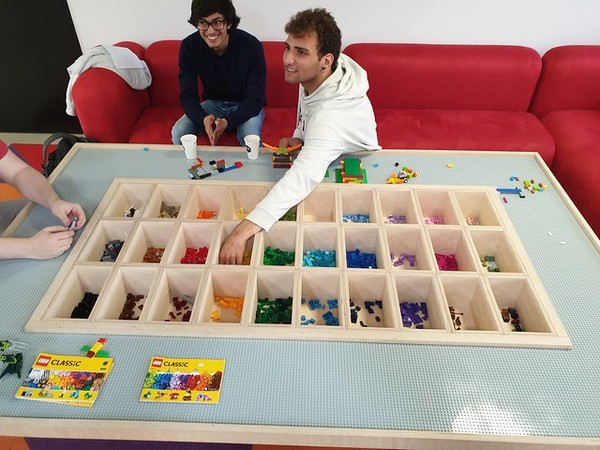 CODAM Lego table. CC Ton Zijlstra, original at Flickr.