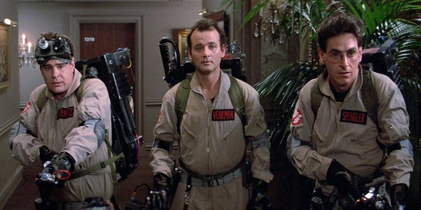 Pictured: Two men in uniforms that don't suit them, and Dan Aykroyd.