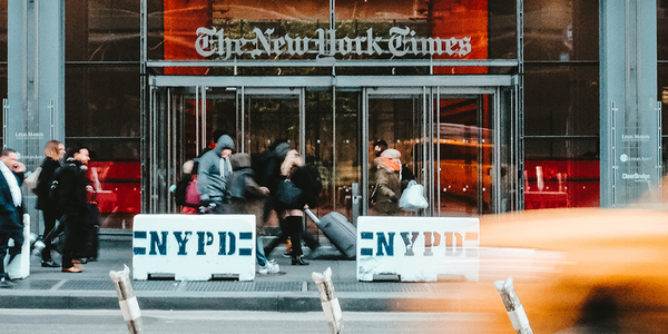 Facebook has good news for publishers like the New York Times Company. Credit: Stéphan Valentin on Unsplash