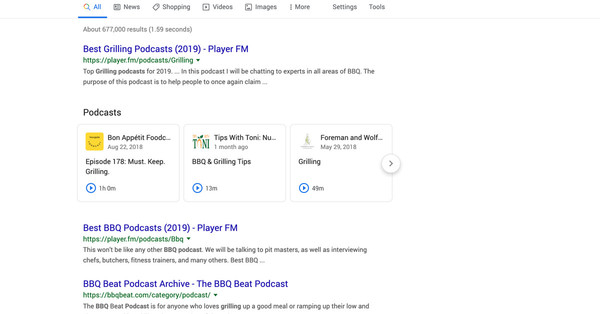 Google will start surfacing individual podcast episodes in search results
