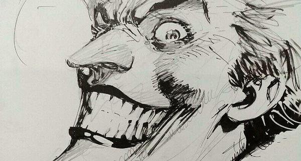 Jim Lee - Original Joker Sketch