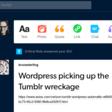WordPress is buying Tumblr