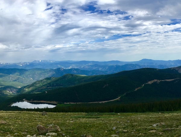 The view from Mt Evans: We started at the bottom now we here.