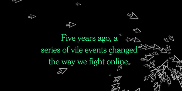 The header from the New York Times' Gamergate retrospective package