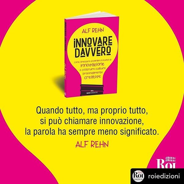 I like the colors, but not convinced by the light-bulb. My innovation book, recently published in Italian!