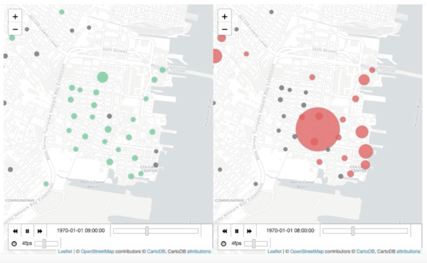 Visualizing NYC Bike Data on Interactive and Animated Maps with Folium Plugins