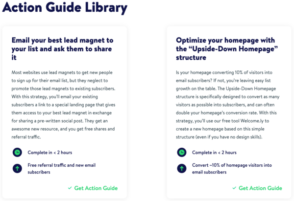 Action Guide Library