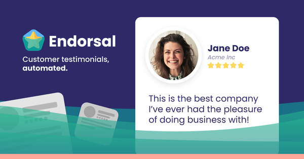 Endorsal — Customer testimonials, Automated