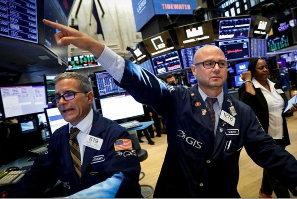 Verslechterde economische vooruitzichten leidden deze maand tot grote onrust op de Amerikaanse beurzen (foto: Reuters)