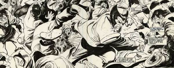 Buscema/Sienkiewicz - Wolverine DPS Original Comic Art