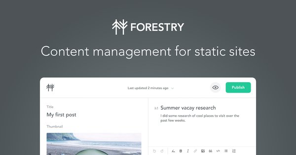 Forestry Starters: Get started with Forestry CMS
