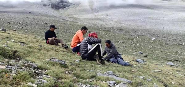 Gathering medicinal herbs in Mustang, Nepal