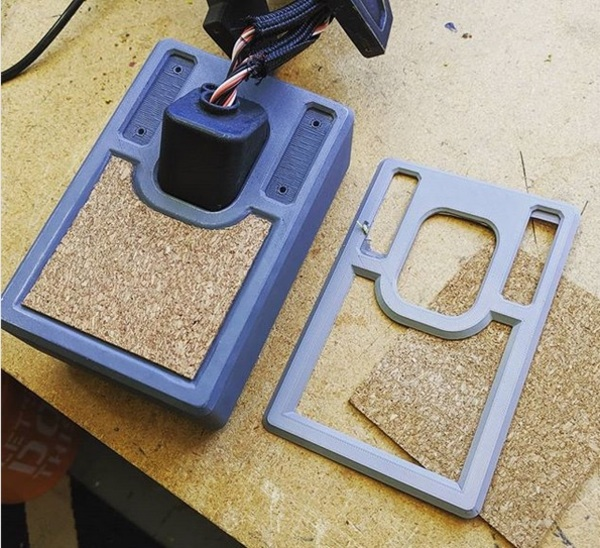 Creating a stencil from a shallow 3D print.
