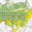 Bekijk de bosbranden in het Amazonegebied met satellietfoto's