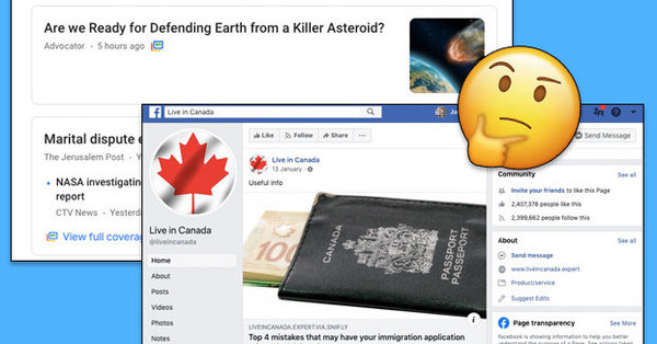 "These ""Canadian"" Websites and Facebook Pages Are Actually Run From Overseas"
