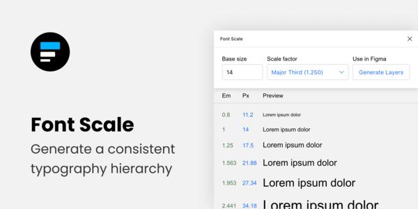 Font Scale — Figma plugin to generate harmonious type styles