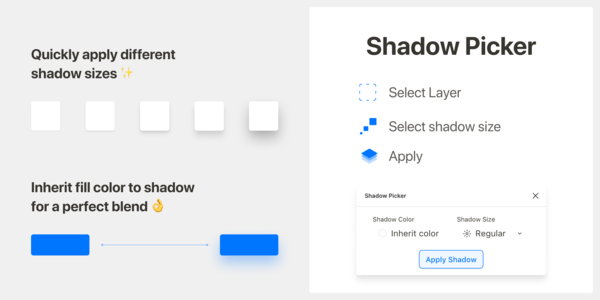 Shadow Picker — Figma plugin to help apply good shadows